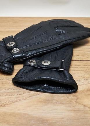 Стильные женские кожаные перчатки. оленья кожа. deerskin leather.