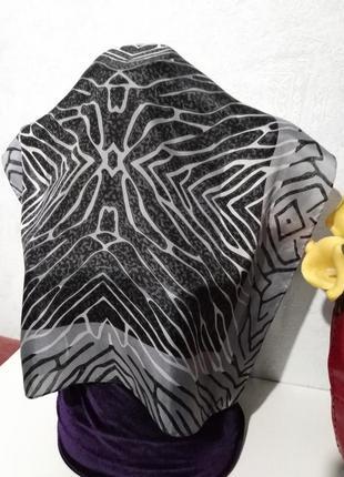 Натуральный шелк, платочек шейный, на сумку, 53*55