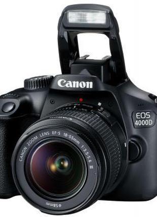 ✅ Цифровой фотоаппарат Canon EOS 4000D 18-55 DC III kit, цифро...