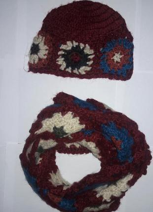 Ажурный комплект: шапка и шарф