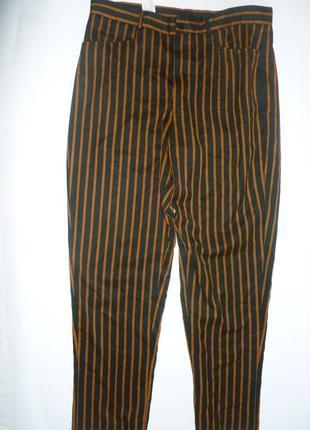 Стильные брюки в яркую полоску мужской крой