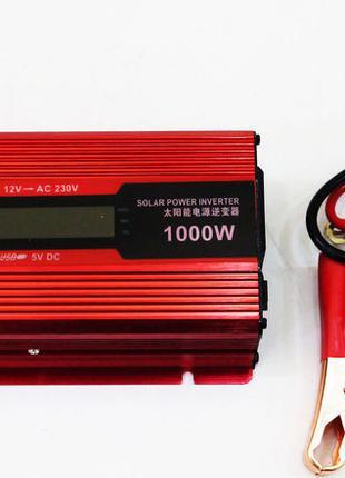 Инвертор преобразователь 12-220V 1000W LED дисплей
