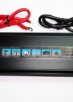 Инвертор преобразователь UKC 12-220V 2000W