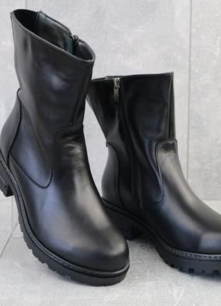 Цена🔥женские кожаные зимние ботинки