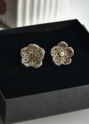 Комплект серебряные сережки кулон серьги just trade /срібні се...