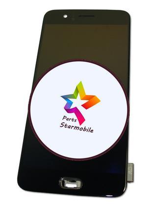 Дисплей OnePlus 5 с сенсором и рамкой черный AMOLED