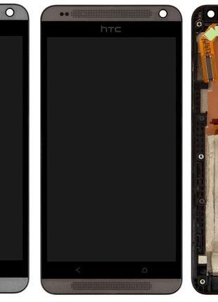 Дисплей для HTC Desire 700 Dual Sim, модуль с рамкой (экран, с...