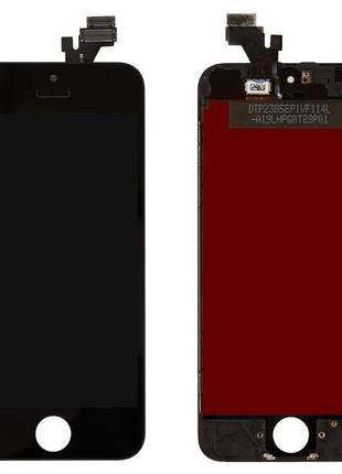 Дисплей для iPhone 5, модуль с рамкой (экран, сенсор), черный,...