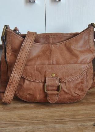 Кожаная сумка кроссбоди accessorize / шкіряна сумка