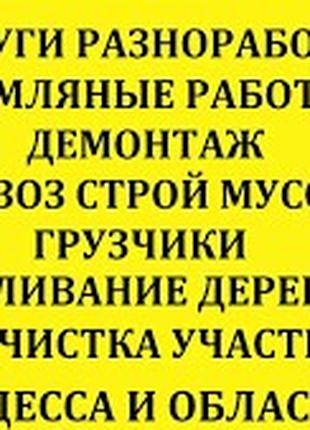 Грузчики, разнорабочие  без выходных Одесса