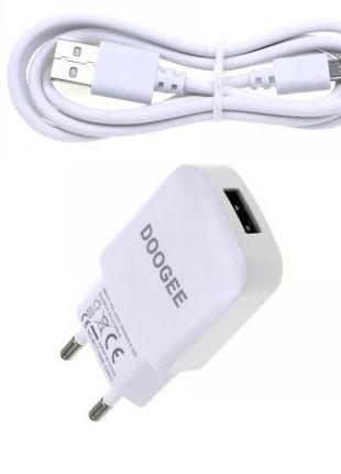 Сетевое зарядное устройство (СЗУ) - Doodgee microUsb (2,1 A), ...