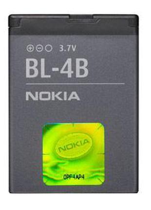 Батарея (аккумулятор, акб) BL-4B для телефона Nokia (700 mAh),...