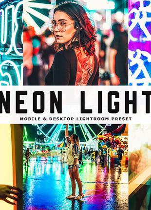 Neon, неон, cyberpunk, кіберпанк, пресети, Lightroom, LUTs