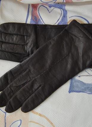 Кожаные перчатки marks & spencer / шкіряні рукавиці