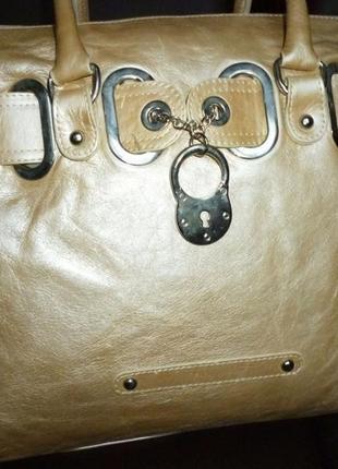 Шикарная большая  сумка натуральная кожа l credi италия
