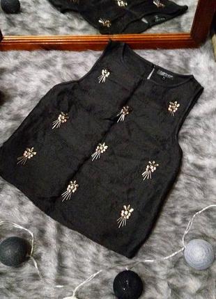 Блуза топ кофточка с вышивкой topshop