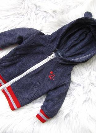 Стильная кофта свитер  реглан   с капюшоном in extenso