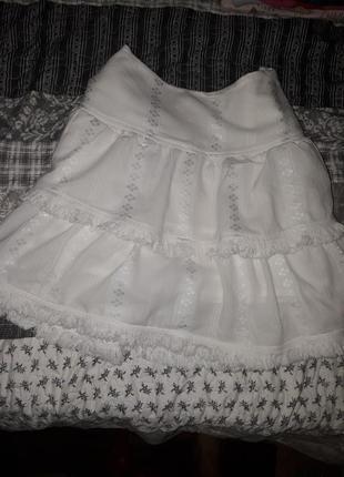 Хлопковая юбка большого размера