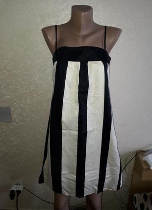 Zara платье в бельевом стиле