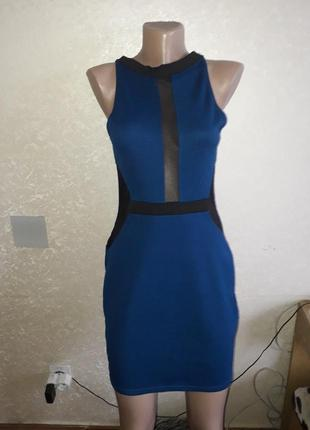 Платье с вставками . смешные цены