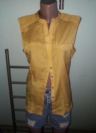 Блузка горчица полиэстер 1+1=3