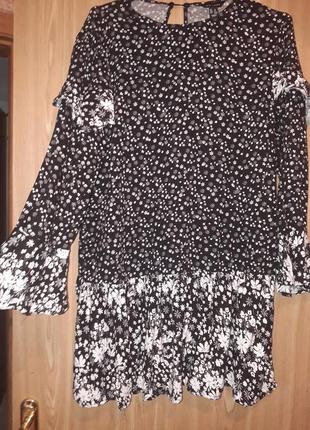 Платье туника с воланами