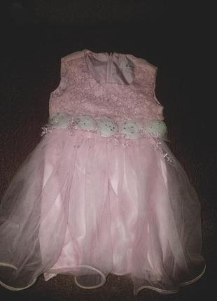 Милое платье до 6 месяцев идеально на фотосесию