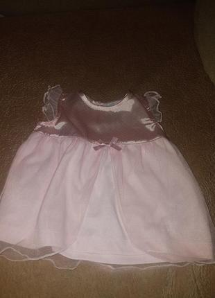 Нежно розовое платье картерс бирка 12 месяцев