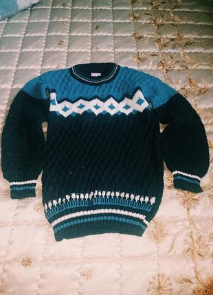 Новый свитерок для мальчика 3-5 посмотрите замер