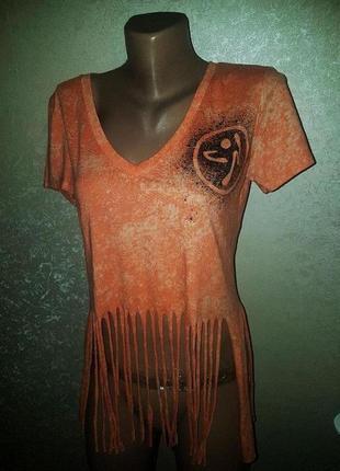Яркая ,оранжевая футболка мягкая и приятная к телу , -20 % под...