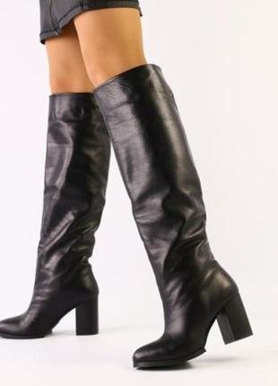 Lux обувь! Женские кожаные натуральные зимние сапоги трубы 3 ц...