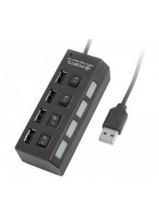 USB HUB удлинитель на 4 порта с выключателем и подсветкой
