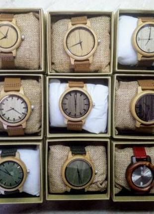 BOBO BIRD деревянные кварцевые часы японский механизм годинник