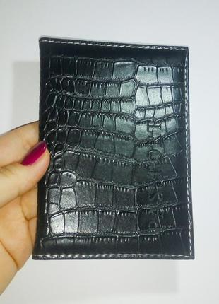 Обложка чехол для паспорта черный, разные цвета probeauty