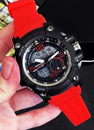 Мужские наручные часы Sanda 759 Red-Black