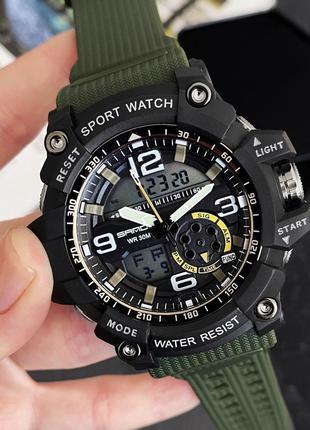 Женские наручные часы Sanda 759 Green-Black