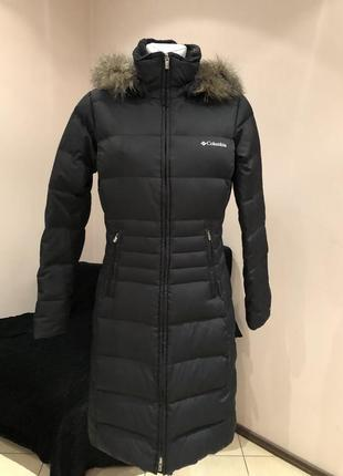 Пуховое пальто пуховик сolumbia. до -20с. размер с