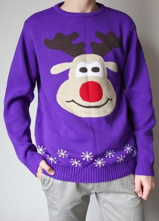 Новогодний свитер от bannockburn с оленем