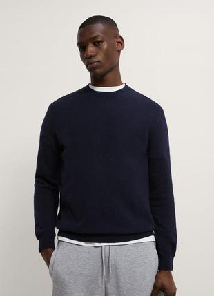 Мужской свитер из овечьей шерсти zara