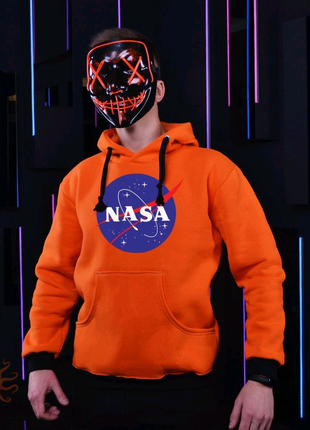 Оранжевое худи NASA зима