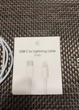 Оригинальный кабель зарядки Apple usb-c to Lightning (1m)