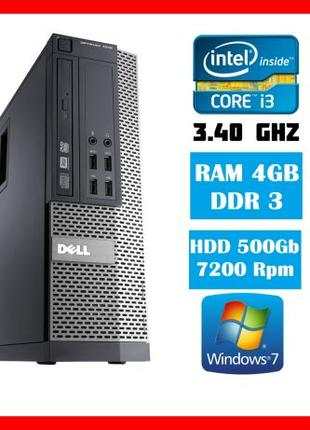 Компютер Dell 7010 SFF/Core i3 3,3Ghz/ 4Gb RAM/ 500gb HDD /Win7