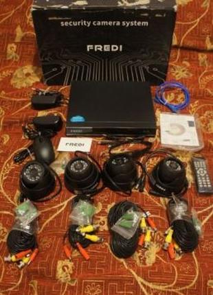 Система видеонаблюдения FREDI 4CH 960H 800TVL 4 камеры CCTV с ...