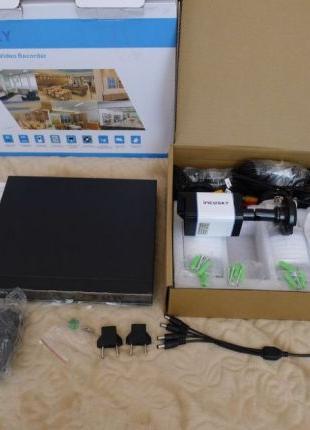 Комплект видеонаблюдения Incosky 4 камеры 720p 1500TVL IP66