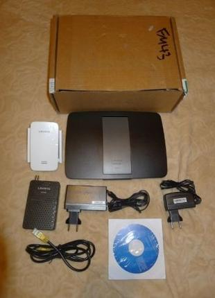 Linksys EA6400 AC1600 Wi-Fi роутер+DOCSIS 3.0 модем CM3008+RE6400