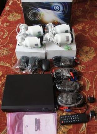 Комплект видеонаблюдения Camview 1080p IP65 FullHD 4 канала/4 ...