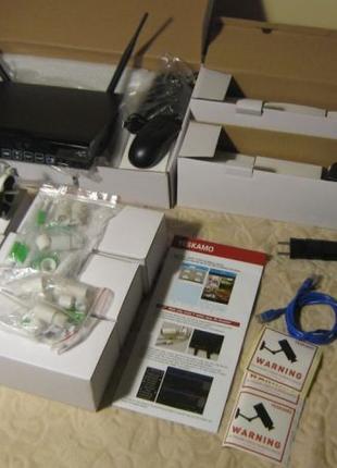 Wi-Fi 6-канальная система видеонаблюдения Yeskamo NK02-10808-2TB