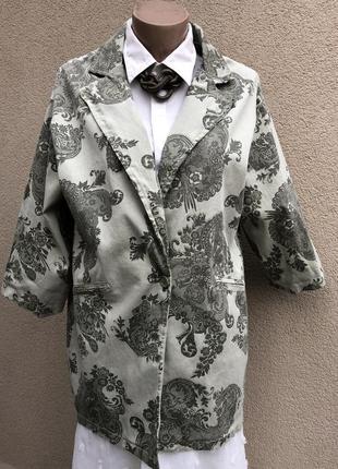 Жакет,пиджак удлиненный по спинке,блейзер,италия,хлопок