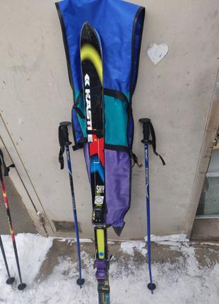 Комплект - лыжи Kastle (180см) с палками и чехлом