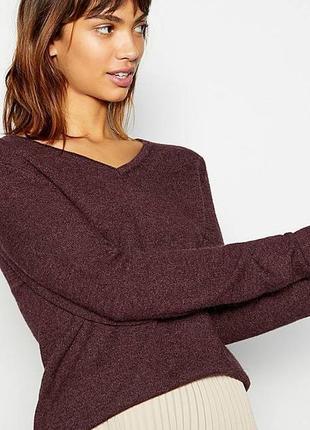 Коричневый джемпер,кофта,свитер,пуловер,шерсть-кашемир,маленьк...
